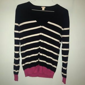 J Crew color block striped sweater